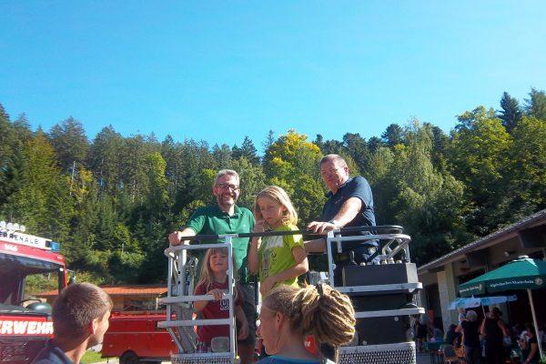 Beim Feuerwehrfest in Bad Herrenalb