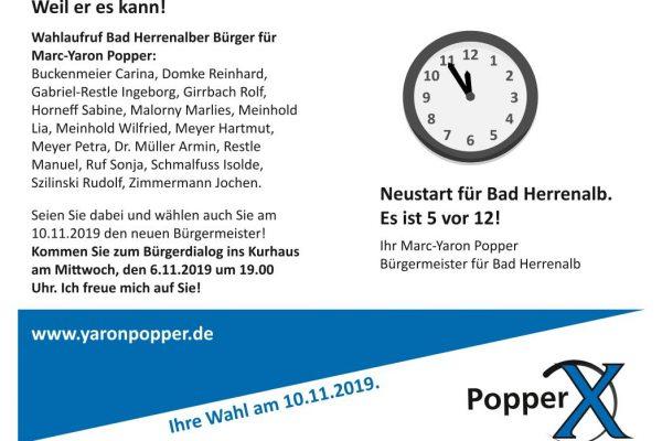Bürgerdialog im Kurhaus am Mittwoch, den 6.11.2019 um 19.00 Uhr